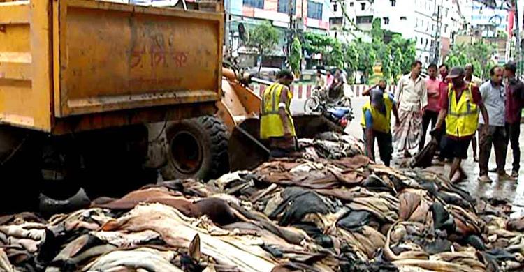 বিপাকে চট্টগ্রামের চামড়া ব্যবসায়ী; ২০০ কোটি টাকার চামড়া